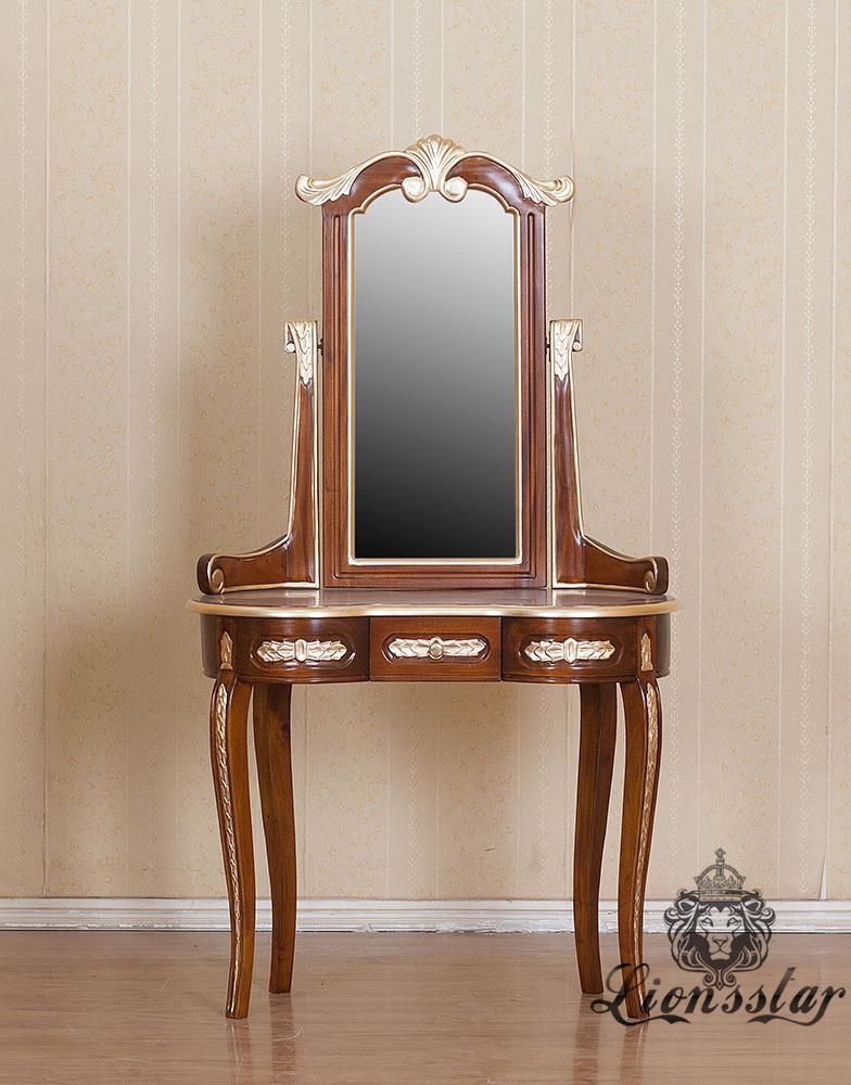 Spiegelkommode Barock Mahagoni Holz Sk.232