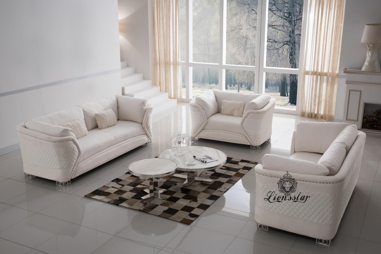Luxuriöse Designersofa 3er Set