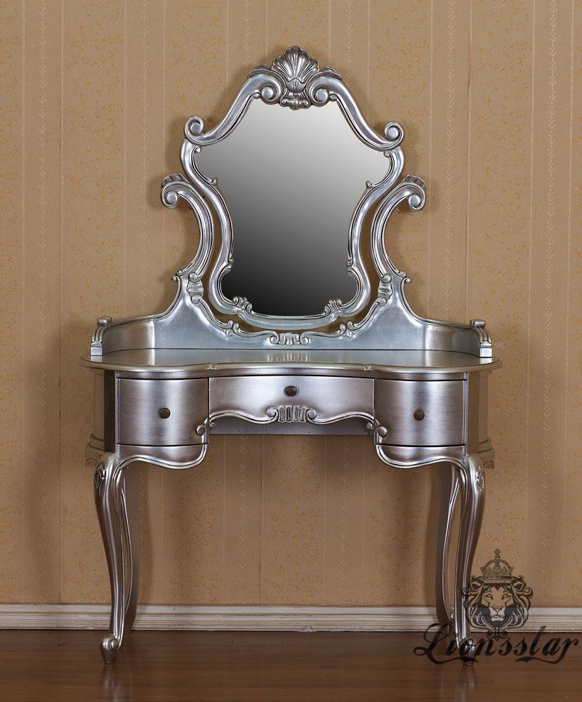Spiegelkommode Barock Mahagoni Holz Sk.241