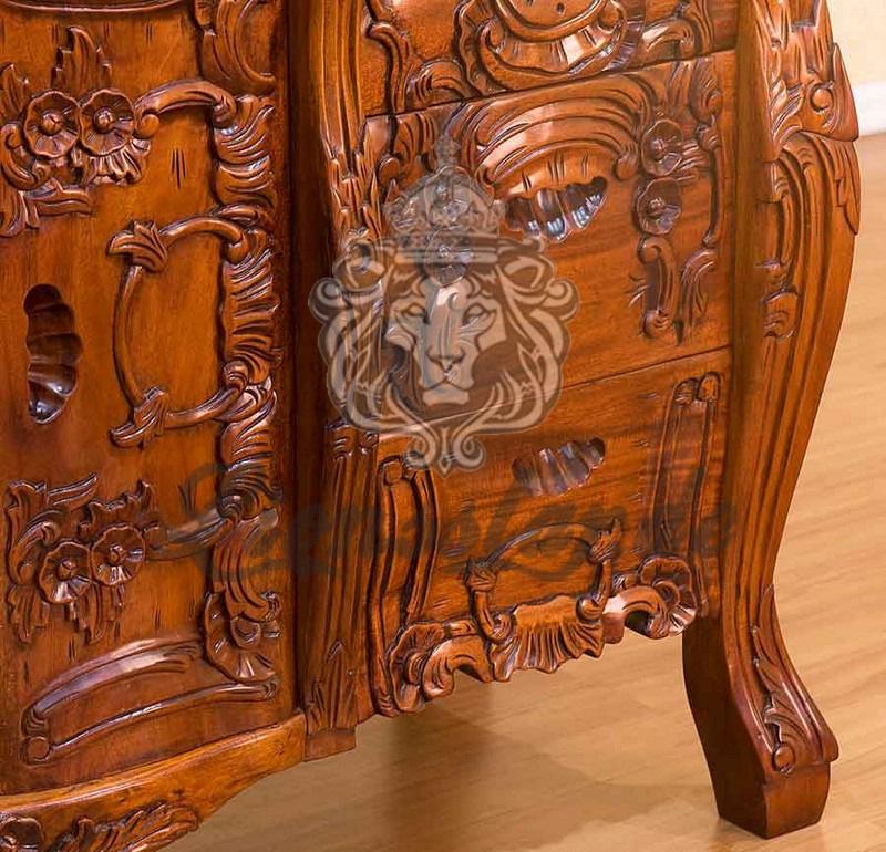 Spiegelkommode Barock Mahagoni Holz Sk.257