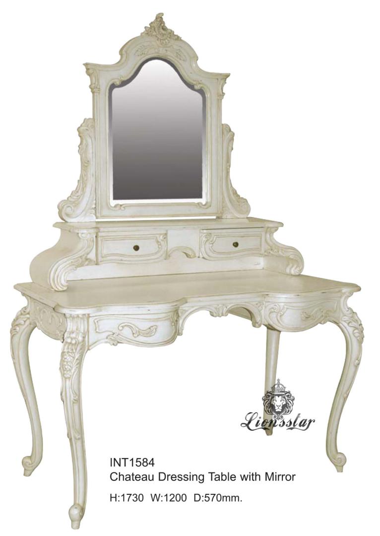Spiegelkommode Barock Mahagoni Holz Sk.150