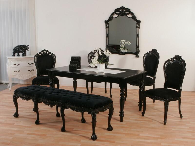 Luxus Esstisch mit Stühlen