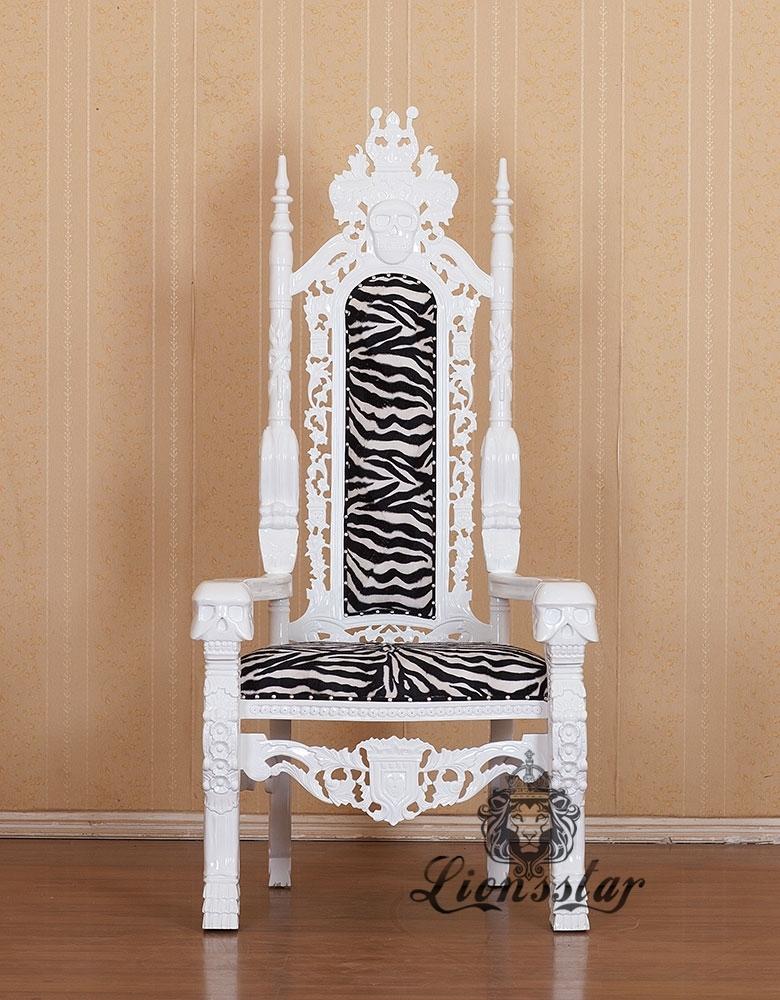 Thronstuhl Totenkopf Zebra