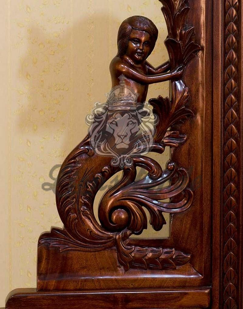 Barock Spiegelkommode Massivholz Rococo