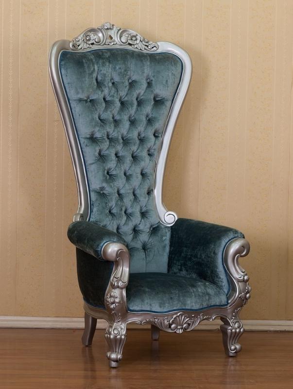 King Chair Silber Grau