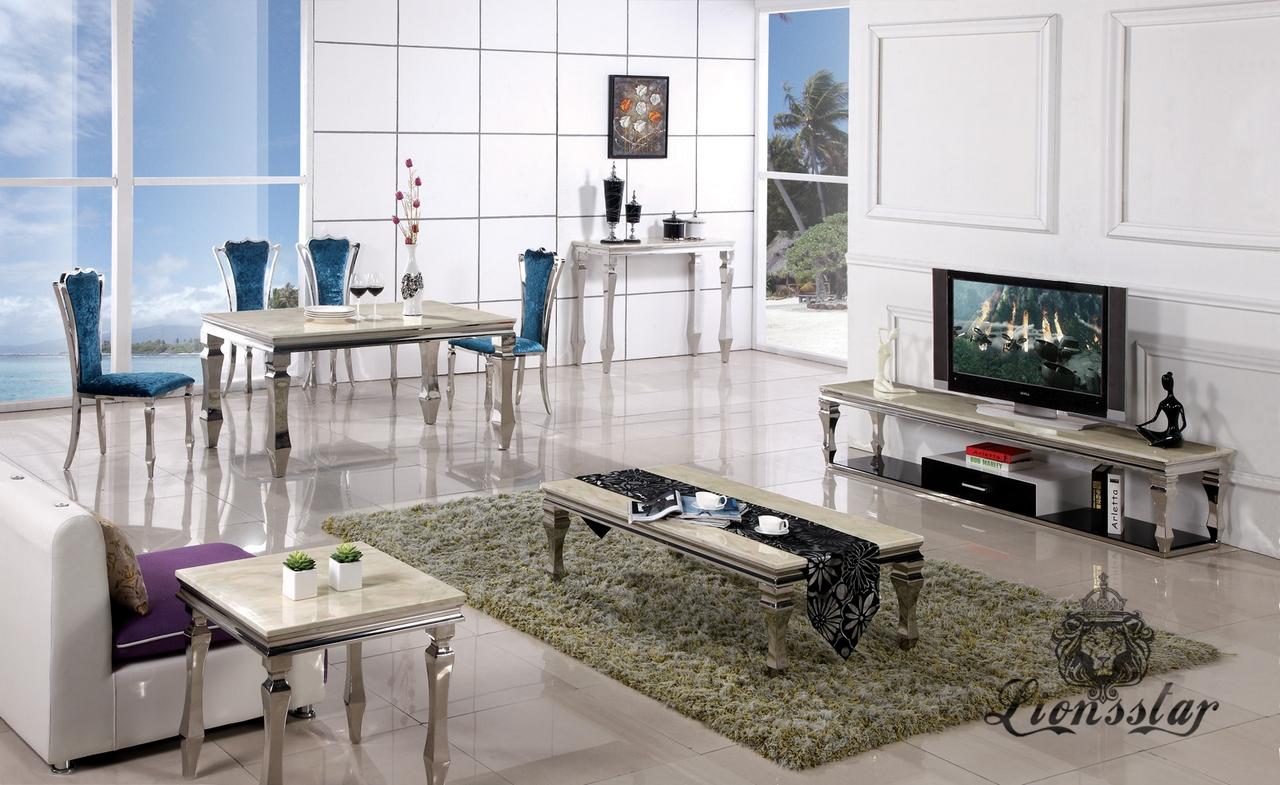 Couchtisch SilberBeige  Lionsstar GmbH