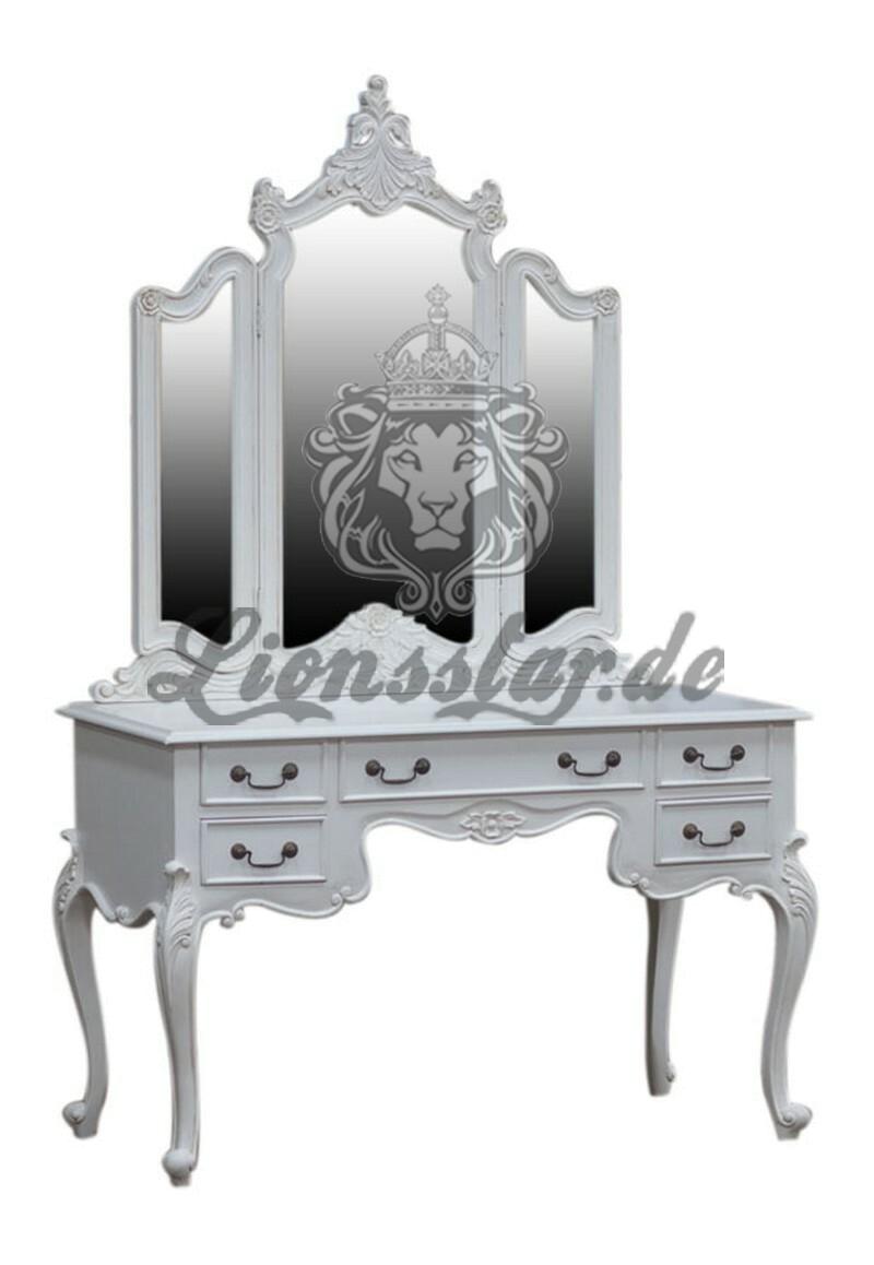 Spiegelkonsole Rococo Weiß Kolonialstil