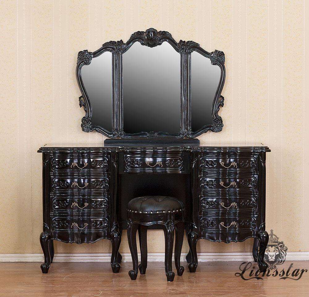 Spiegelkommode Barock Mahagoni Holz Sk.221