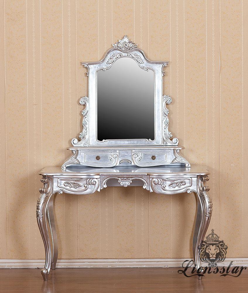 Spiegelkommode Barock Mahagoni Holz Sk.223