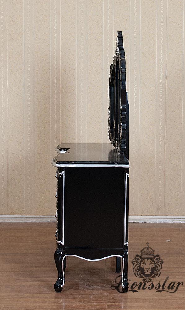 Spiegelkommode Barock Mahagoni Holz Sk.231