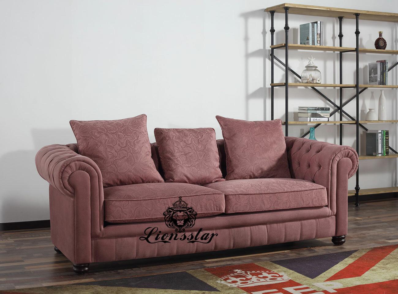 Edles Design Sofa Set Klassisch Altrosa