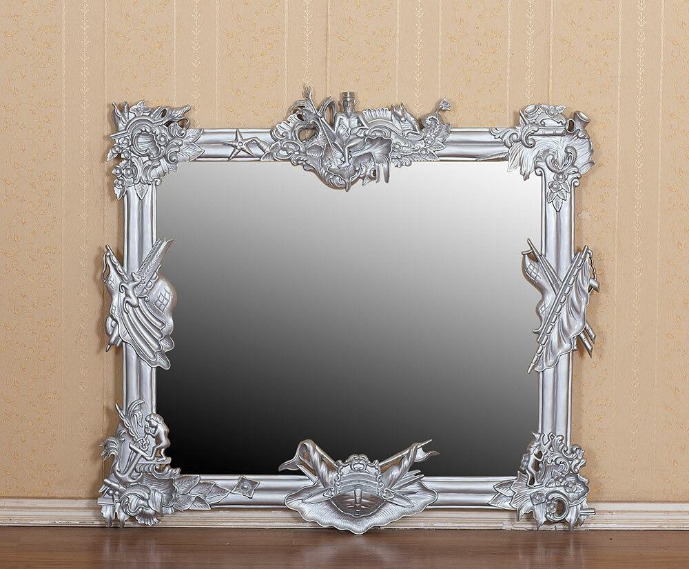 Wandspiegel Barock Silber