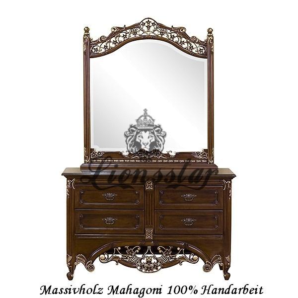 Spiegelkommode Barock Mahagoni Holz Sk.137