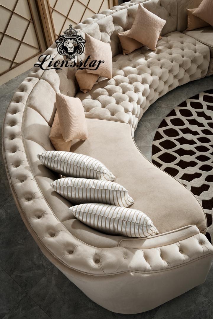 Moderne Designer Couchgarnitur Hell