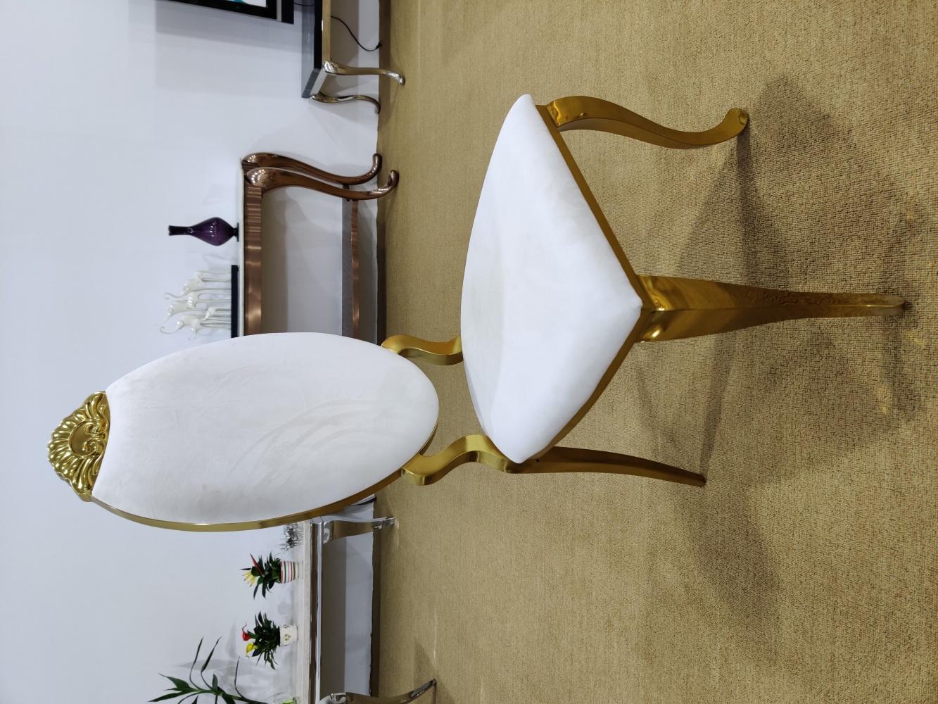 Designer Barock Stuhl Gold Rose