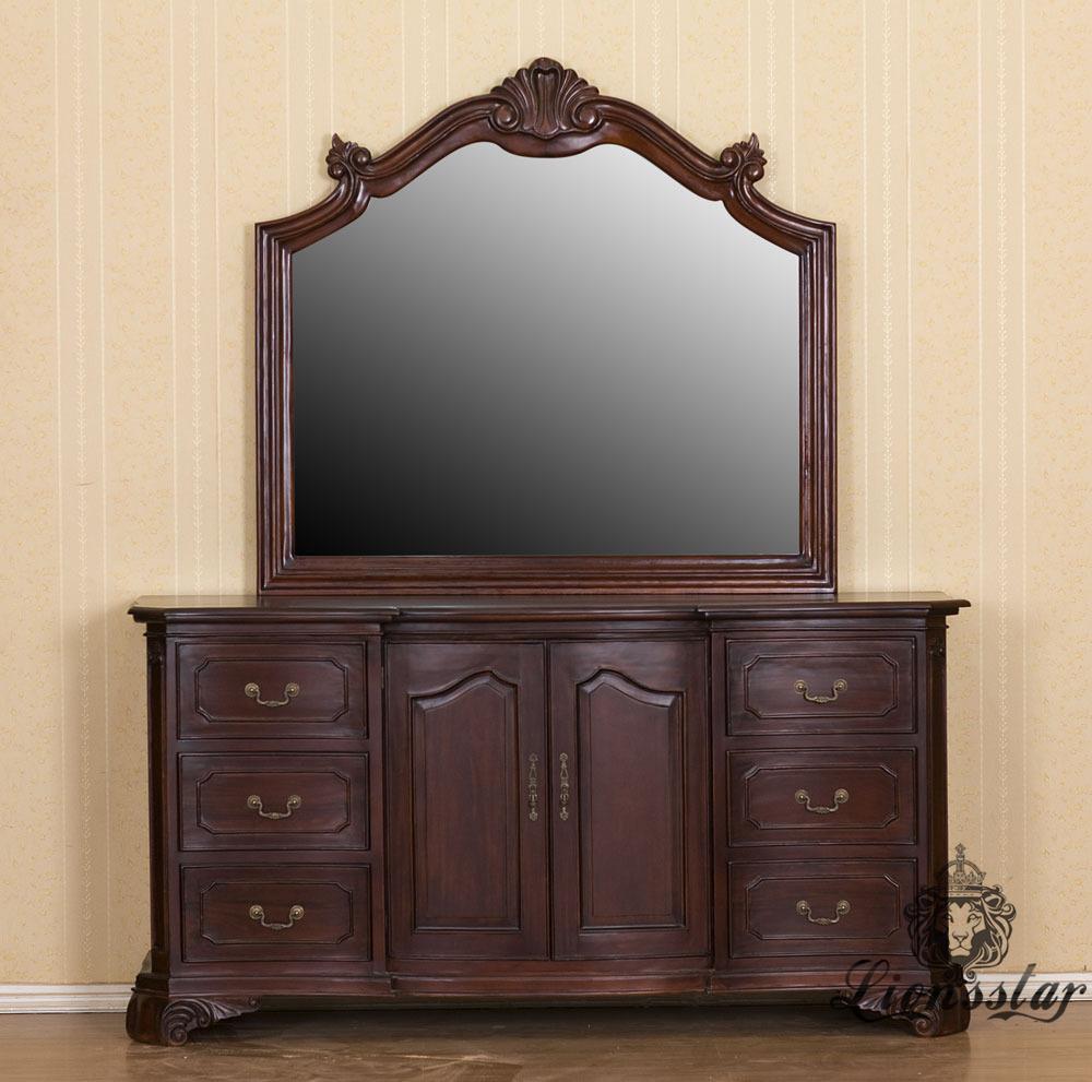 Spiegelkommode Barock Mahagoni Holz Sk.285