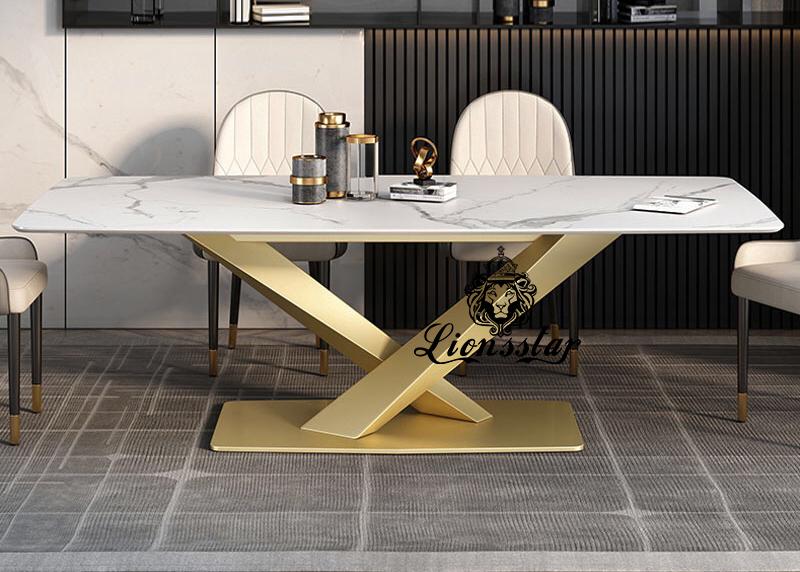 Luxus Designer Esstischset Bridge