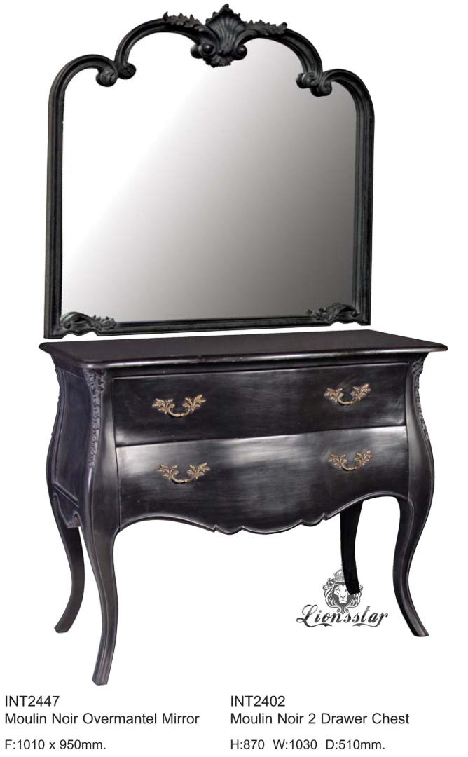 Spiegelkommode Barock Mahagoni Holz Sk.156