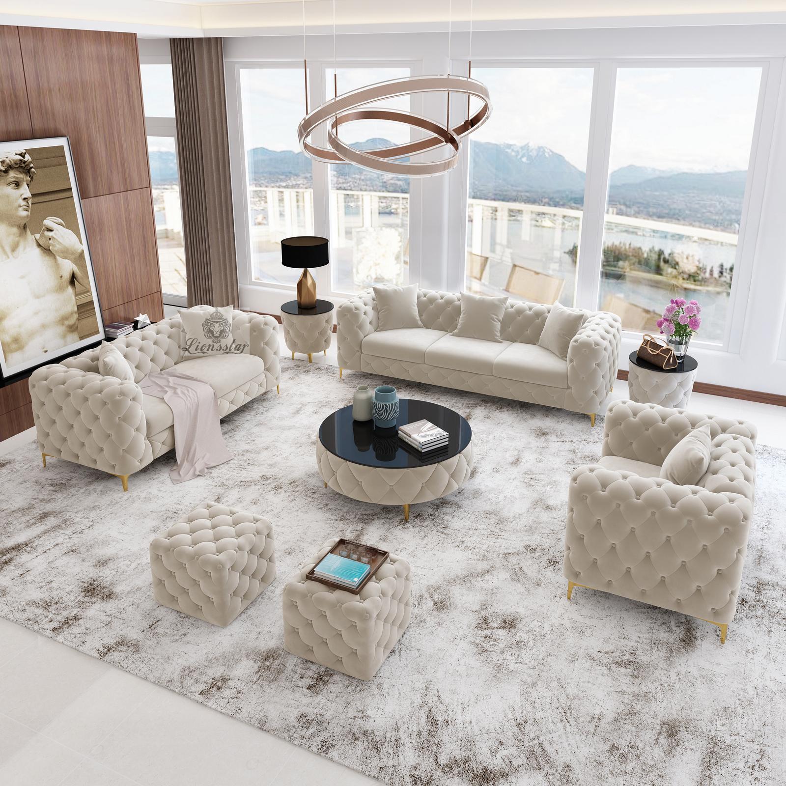Luxus Sofaset Loft Modern Chesterfield Lionsstar Gmbh