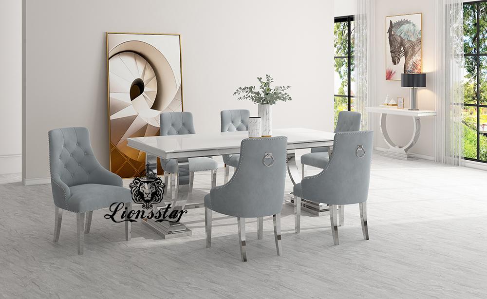 Luxus Stuhl Loft Design Silber