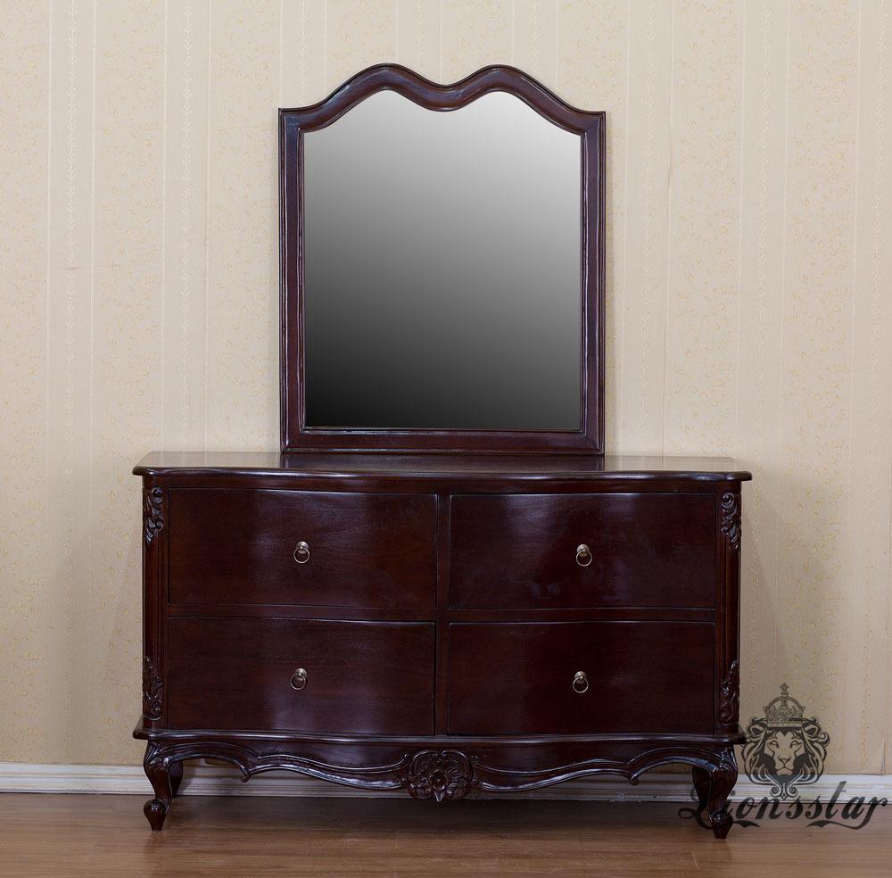 Spiegelkommode Barock Mahagoni Holz Sk.252
