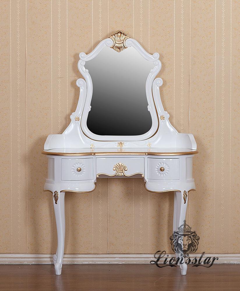 Spiegelkommode Barock Mahagoni Holz Sk.175