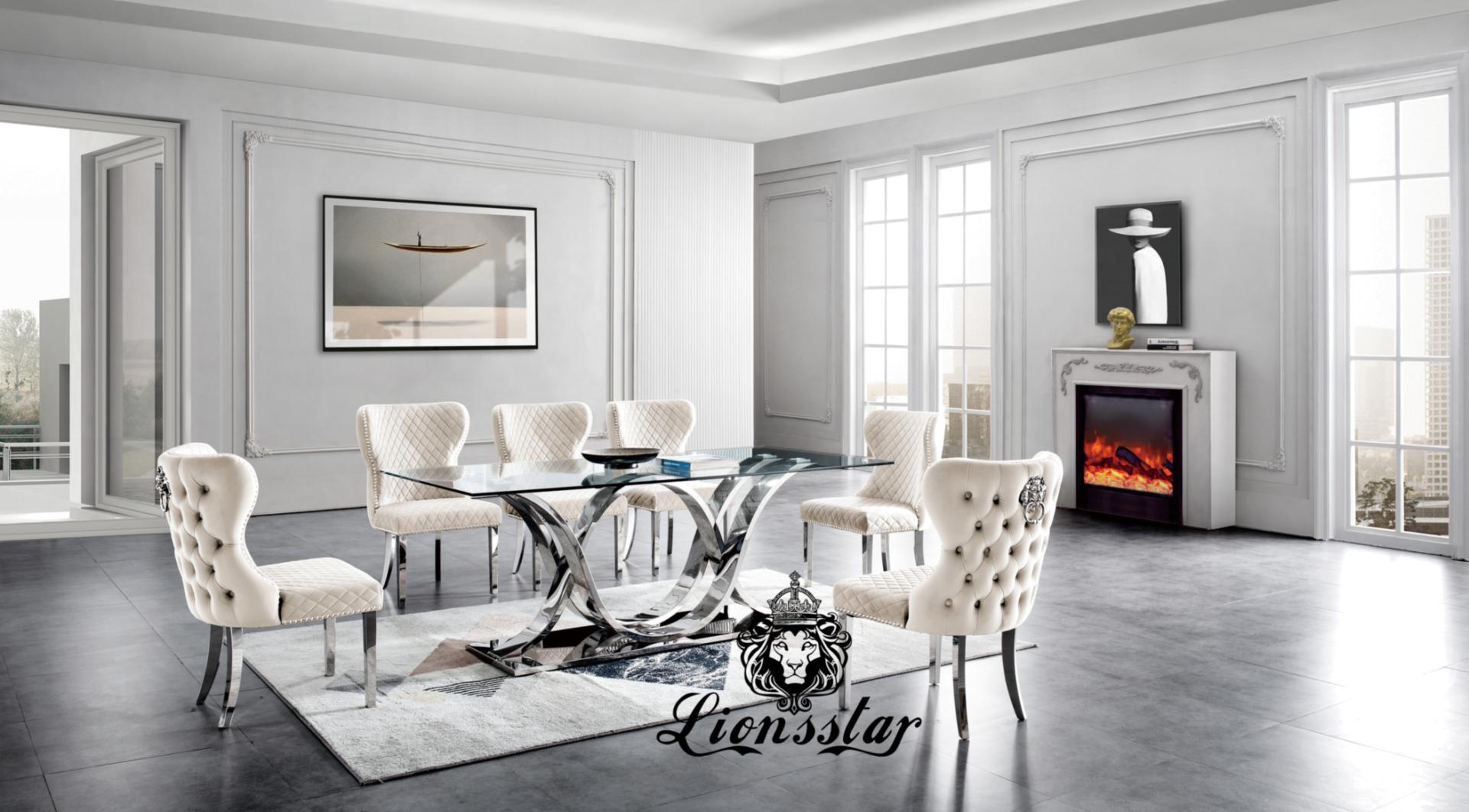Luxus Esstisch Stuhl Crossover Design