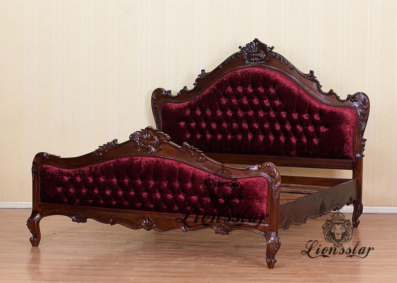 Bett Louisstil Rot