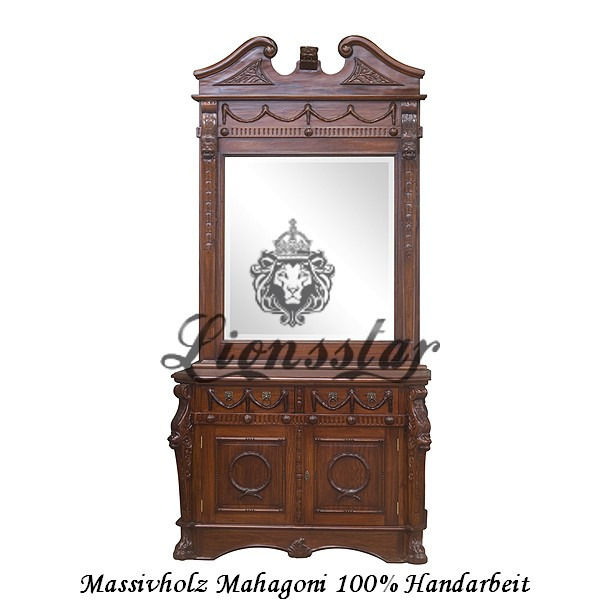Spiegelkommode Barock Mahagoni Holz Sk.107