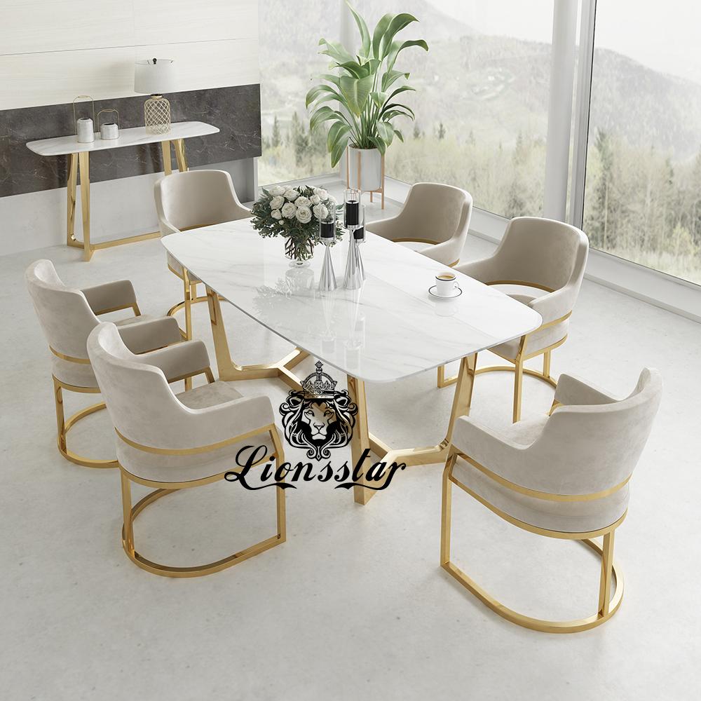 Luxus Stuhl Edel Metall Design