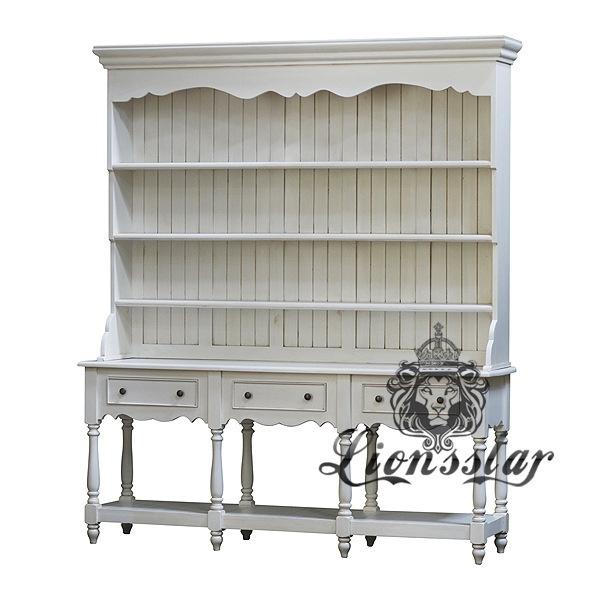 Rokoko Bücherregal Weiß