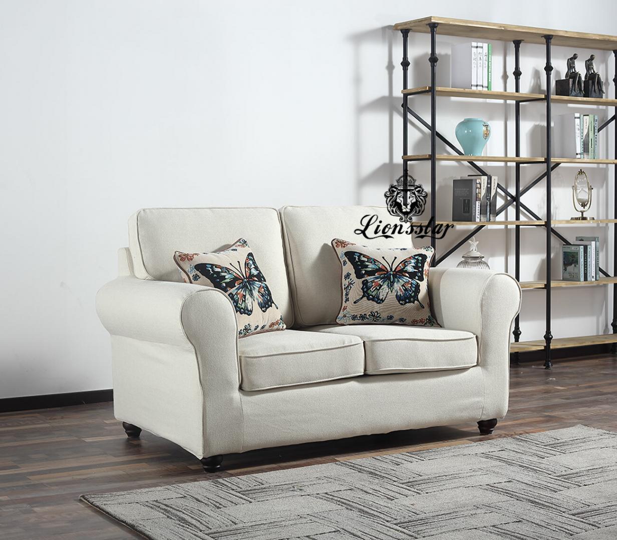 Design Sofa Set Norderney Creme Weiß