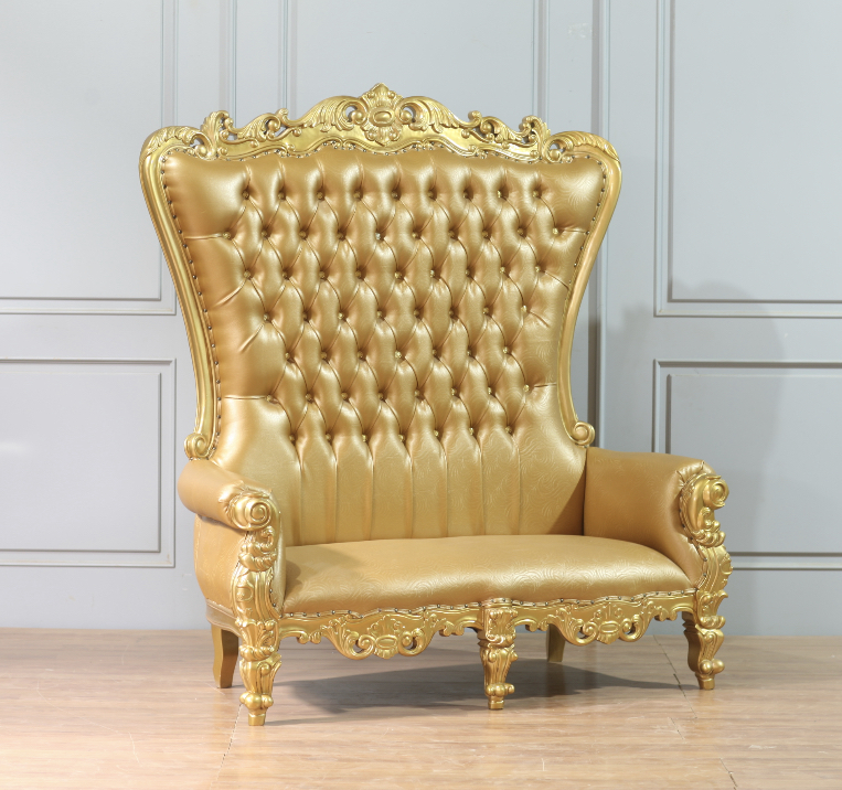 King Chair Luxus Gold Flower For Two