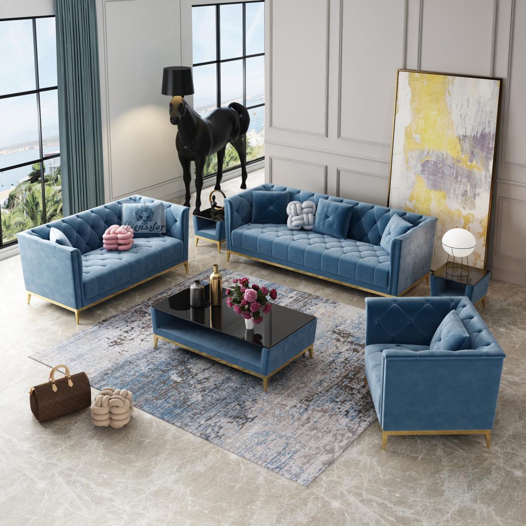 Designer Sofa Set Chesterfield Stil Modern