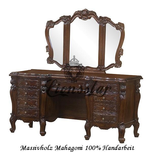 Spiegelkommode Barock Mahagoni Holz Sk.125