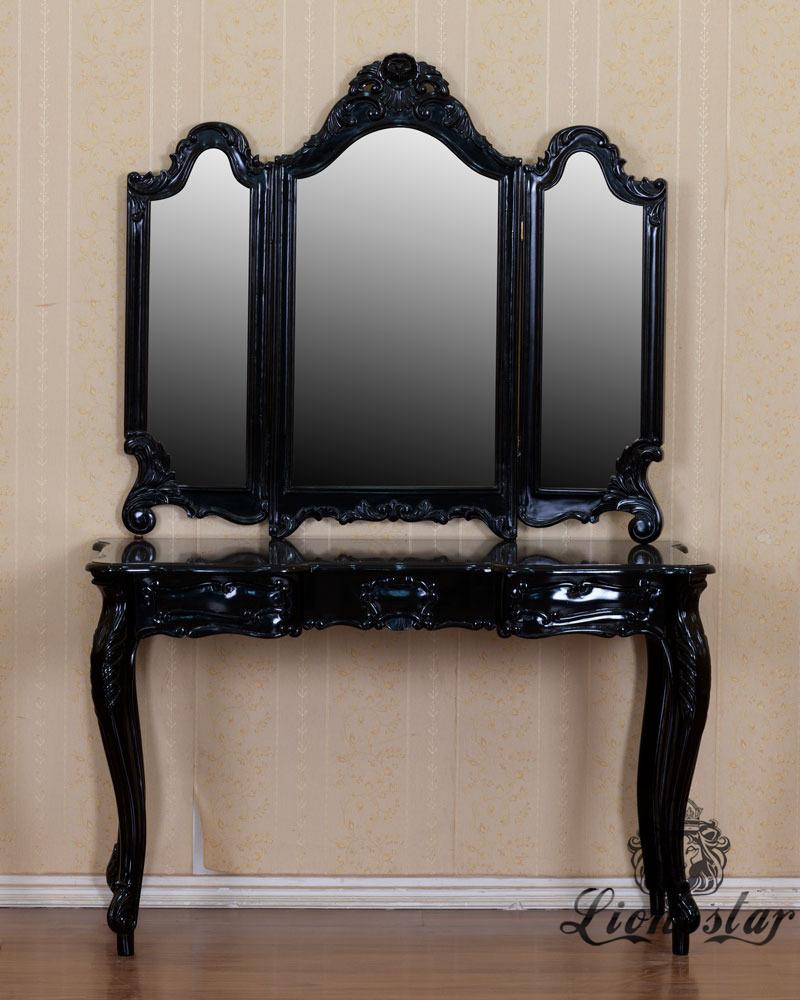 Spiegelkommode Barock Mahagoni Holz Sk.260