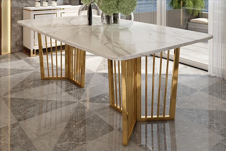Luxus Designer Esstisch Set Lattice