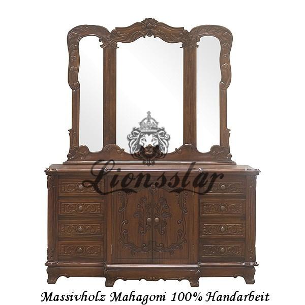 Spiegelkommode Barock Mahagoni Holz Sk.108