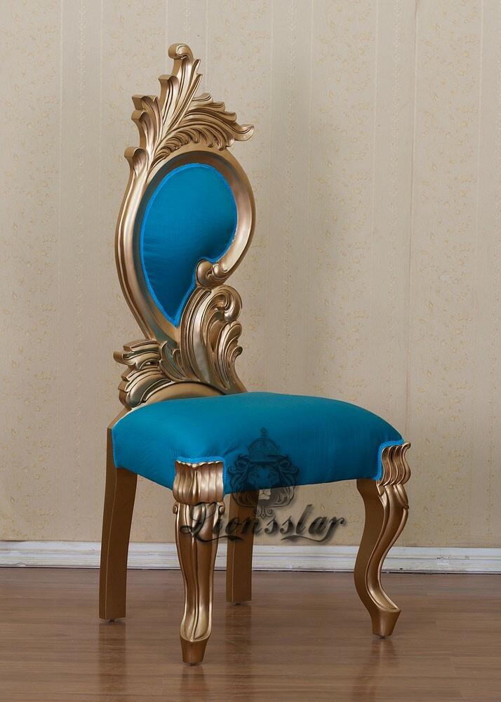Stuhl Rose Blau