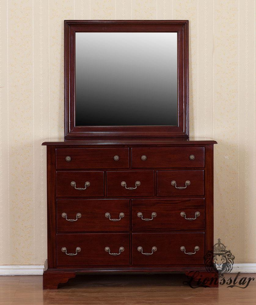 Spiegelkommode Barock Mahagoni Holz Sk.237