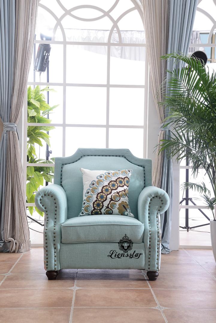 Design Sofa Set Flower Blue