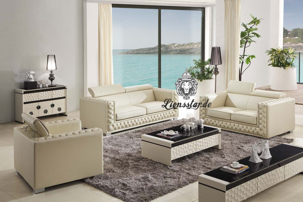 luxus sofa set wei lionsstar gmbh. Black Bedroom Furniture Sets. Home Design Ideas
