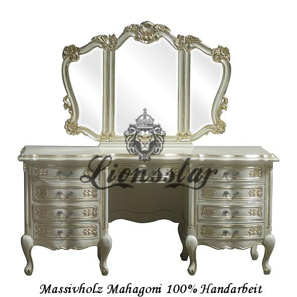 Spiegelkommode Barock Mahagoni Holz Sk.124