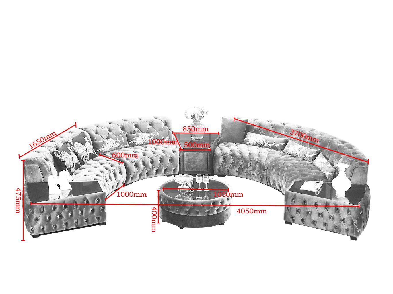 Moderne Couchgarnitur Purple