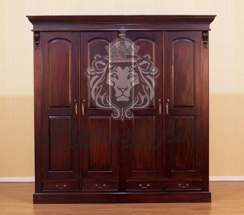 schrank massivholz mahagoni nussbaum lionsstar gmbh. Black Bedroom Furniture Sets. Home Design Ideas