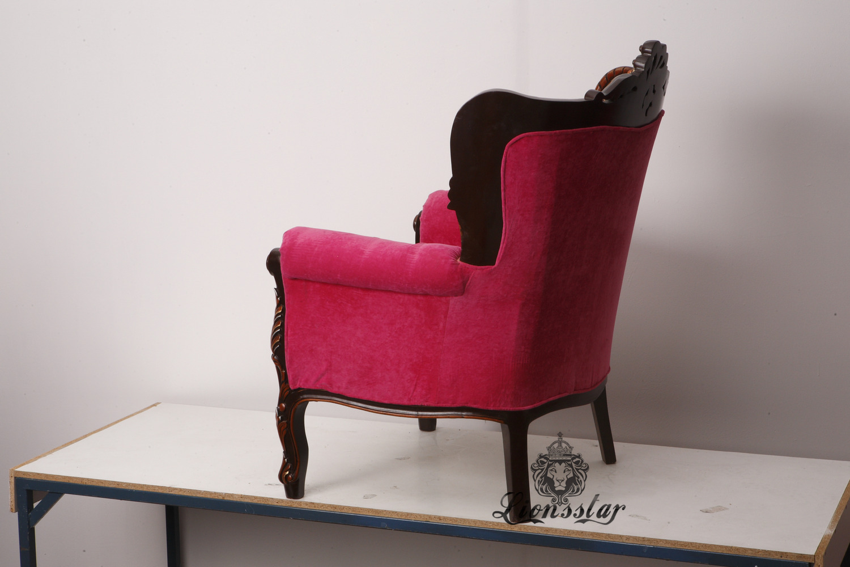 Thronstuhl Barock Pink