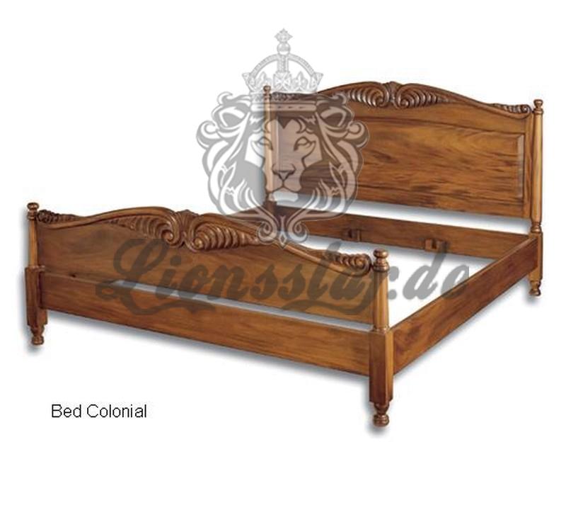Empire Bett Kolonialstil Massiv