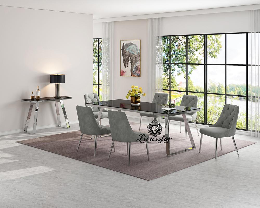 Luxus Designer Esstisch Set Ashley