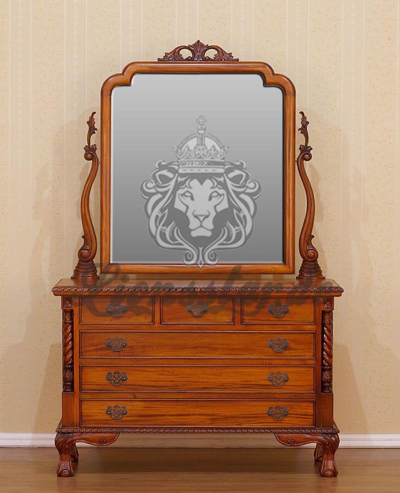 Spiegelkommode Barock Mahagoni Holz Sk.300