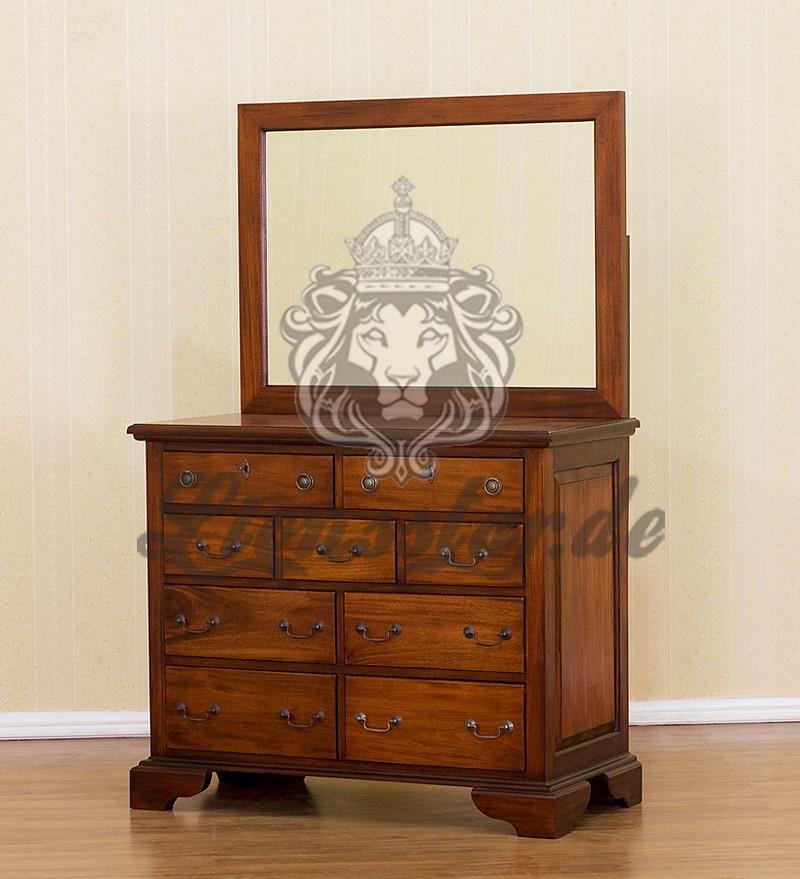 Spiegelkommode Barock Mahagoni Holz Sk.191